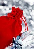 Presentes do Natal, tiro macro Fotografia de Stock Royalty Free