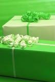 Presentes do verde Imagens de Stock