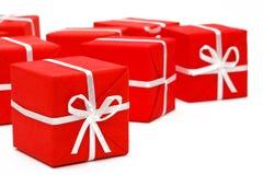 Presentes do vermelho Imagem de Stock