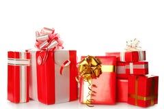 Presentes do vermelho do Natal Imagem de Stock Royalty Free