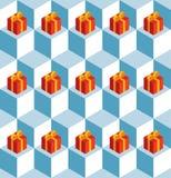 Presentes do vermelho dos cubos de gelo do teste padrão Imagem de Stock Royalty Free