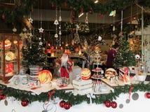 Presentes do vidro do mercado do Natal Foto de Stock Royalty Free