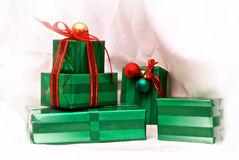Presentes do Xmas Foto de Stock Royalty Free