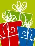 Presentes dos presentes de Natal ilustração royalty free
