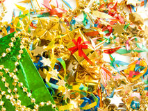 Presentes dourados Fotografia de Stock