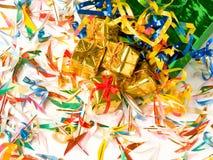 Presentes dourados Imagem de Stock Royalty Free