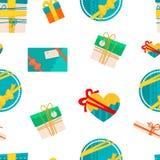 Presentes e presentes de formas diferentes para ocasiões ilustração royalty free