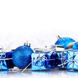 Presentes e decoração do Natal Imagem de Stock Royalty Free