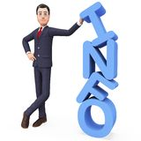 Presentes e informação do apoio de Presenting Info Represents do homem de negócios ilustração royalty free