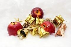 Presentes e símbolos do Natal Imagens de Stock