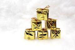 Presentes e símbolos do Natal Imagem de Stock