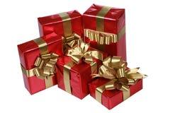 Presentes elegantes do vermelho Foto de Stock Royalty Free