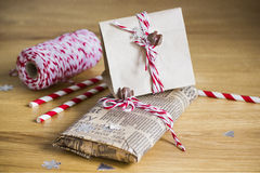Presentes empacotados Fotografia de Stock
