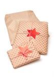 Presentes envueltos para la Navidad Fotos de archivo libres de regalías