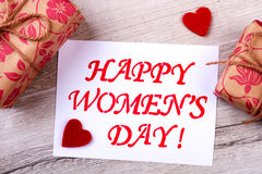 Presentes no dia do ` s das mulheres Imagem de Stock