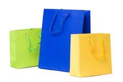 Presentes ou sacos de compra Fotografia de Stock Royalty Free
