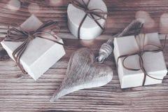 Presentes para o dia de mães no sepia Imagem de Stock Royalty Free