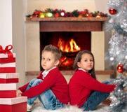 Presentes para o Natal Imagens de Stock Royalty Free