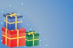 Presentes para o Natal ou o aniversário imagem de stock