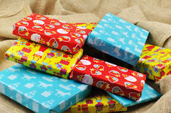 Presentes para Sinterklaas Imágenes de archivo libres de regalías