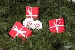 Presentes por o ano novo Foto de Stock