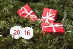 Presentes por o ano novo Imagem de Stock