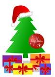 Presentes sob uma árvore de Natal Fotos de Stock