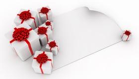 Presentes sobre o Livro Branco em branco Fotografia de Stock Royalty Free