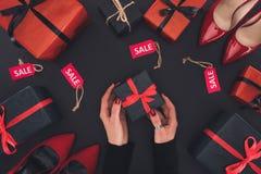 Presentes, talones y etiquetas de la venta Imagen de archivo libre de regalías