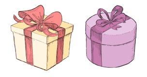Presentes tirados Imagem de Stock