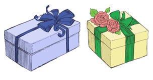 Presentes tirados Fotos de Stock Royalty Free