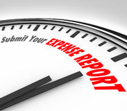 Presenti il vostro tempo di termine dell'orologio di parole rapporto di spesa Immagine Stock Libera da Diritti