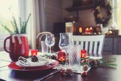 Presenti la regolazione per il Natale della celebrazione e le feste del nuovo anno immagini stock