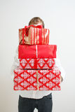 Presenting alot of gifts Stock Image