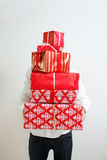Presenting alot of gifts Royalty Free Stock Photo