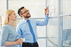 Presenting analytics Stock Image