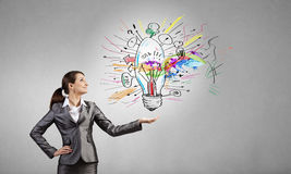 Presenting the best business idea! Royalty Free Stock Image