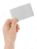 Presenting a business card Royalty Free Stock Photos