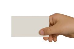 Presenting a Business Card Stock Photos