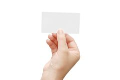 Presenting a Business Card Stock Photography