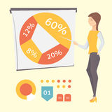 Presenting business, diagram and graph. Presenting business vector set eps10 Royalty Free Stock Image