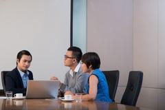 Presenting business idea Stock Photos