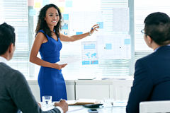 Presenting business ideas Stock Photo