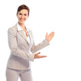 Presenting  business woman Royalty Free Stock Photos
