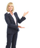 Presenting  business woman Royalty Free Stock Image