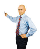 Presenting businessman Royalty Free Stock Image