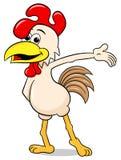Presenting cartoon chicken Stock Photography