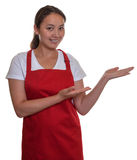 Presenting chinese waitress Stock Photos