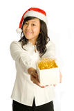 Presenting Christmas Gift Royalty Free Stock Photos