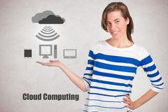 Presenting Cloud Computing Royalty Free Stock Images